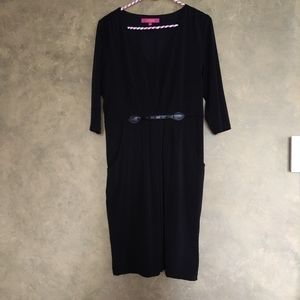 Catherine Malandrino Black Pocket Dress
